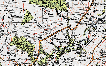Old map of Bankhead in 1925
