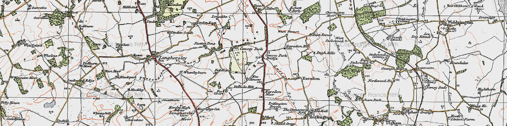 Old map of Tindale Hill in 1925