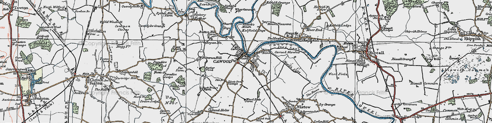 Old map of Wharfe's Mouth in 1924