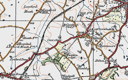 Old map of Cawston in 1919