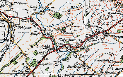 Old map of Ledwyche Brook in 1920