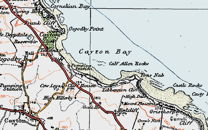 Old map of Cayton Bay in 1925