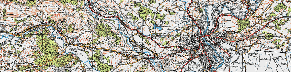 Old map of Cefn in 1919