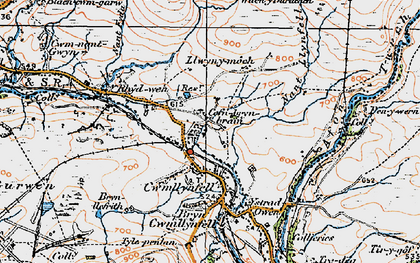 Old map of Aman Fawr in 1923