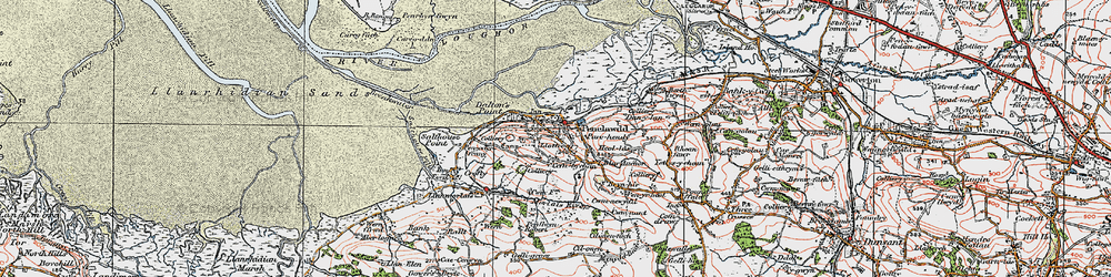 Old map of Cefn-bychan in 1923