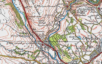 Old map of Wyrlod-ddu in 1923