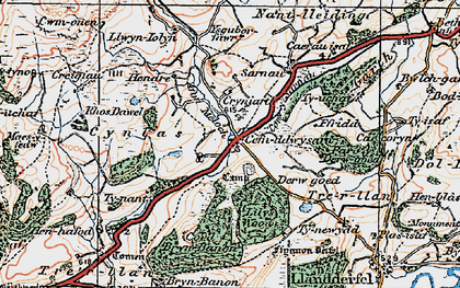 Old map of Lily's Wood in 1922