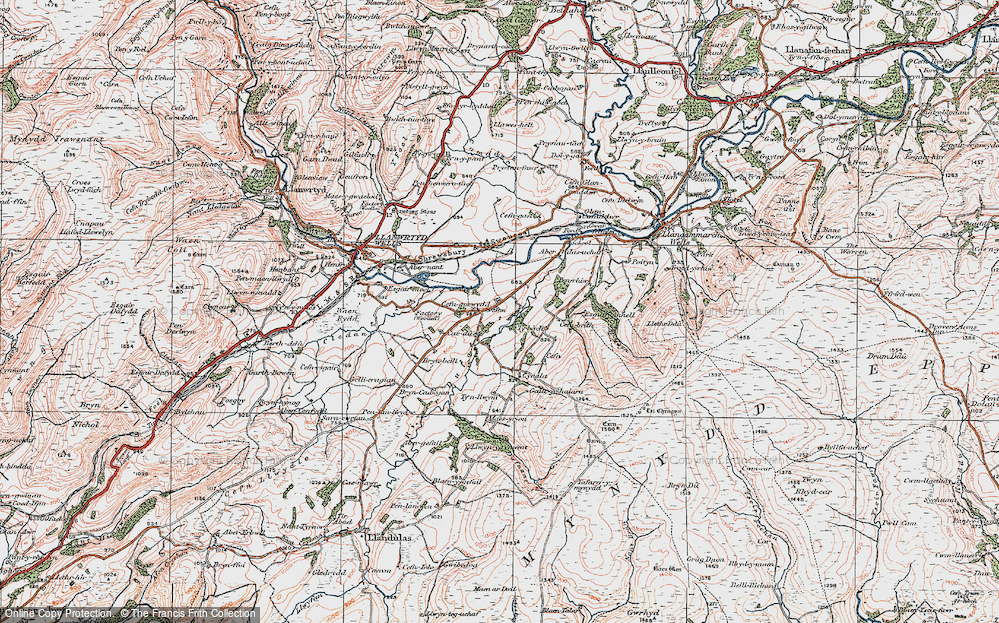 Old Map of Cefn-gorwydd, 1923 in 1923