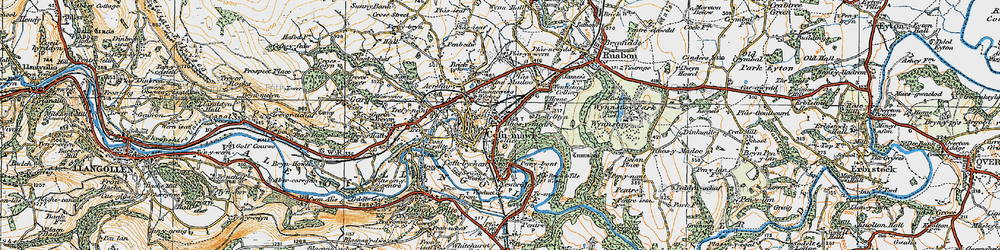 Old map of Cefn-mawr in 1921