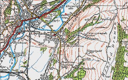 Old map of Cefn-y-Garth in 1923