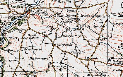 Old map of Cefn-y-pant in 1922