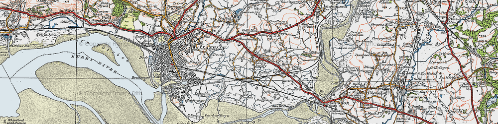 Old map of Tir Morfa in 1923