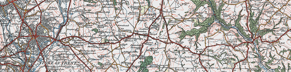 Old map of Windicott in 1921