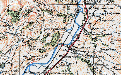 Old map of Aberhiriaeth in 1921