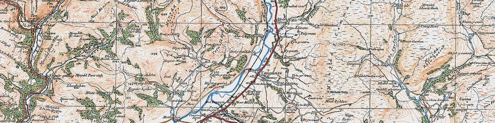 Old map of Aberhiriaeth in 1921