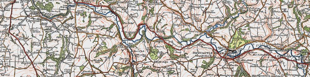 Old map of Alltybwla in 1923