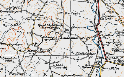 Old map of Cae Gors in 1922