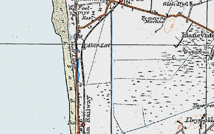 Old map of Afon Leri in 1922