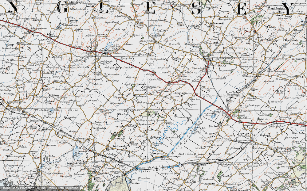 Old Map of Historic Map covering Afon Gwna in 1922
