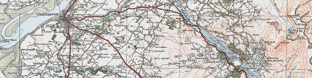Old map of Y Garth in 1922