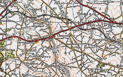 Old map of Chacewater in 1919