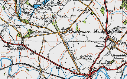 Old map of Chackmore in 1919