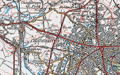 Old map of Chadderton in 1924
