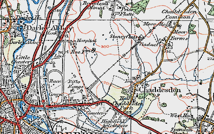 Old map of Chaddesden in 1921