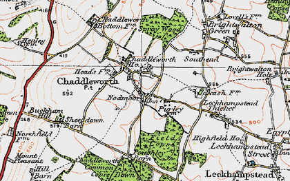 Old map of Chaddleworth in 1919