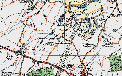 Old map of Avenue Lodges in 1919