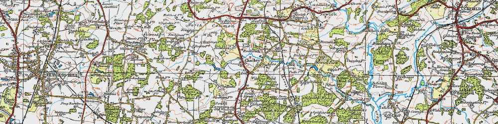 Old map of Ades in 1920