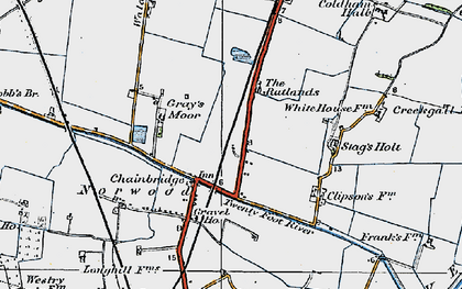 Old map of Chainbridge in 1922