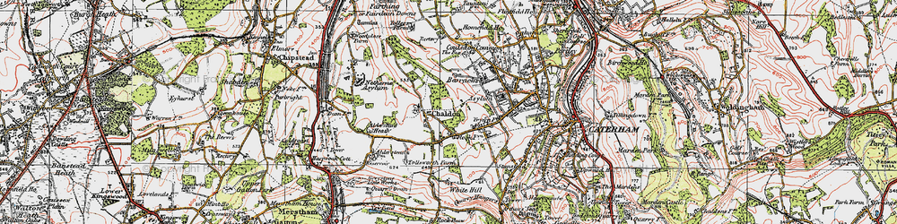 Old map of Tollsworth Manor in 1920
