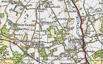 Old map of Chalfont Grove in 1920