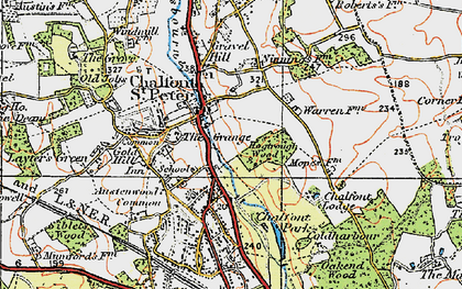 Old map of Chalfont St Peter in 1920