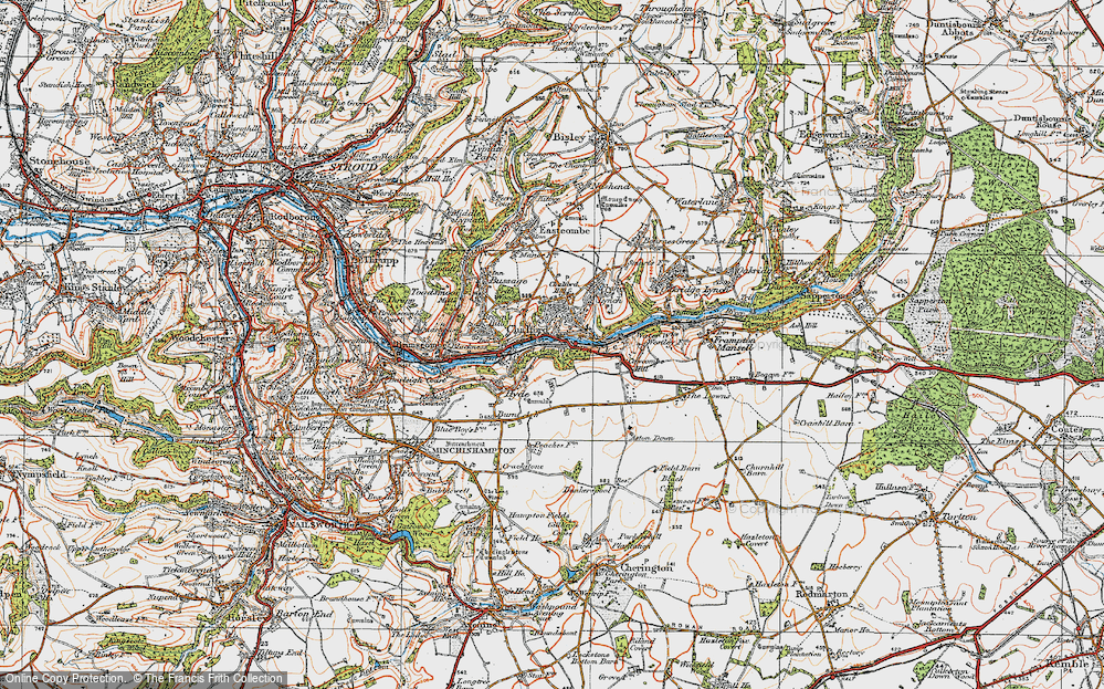 Old Map of Chalford, 1919 in 1919