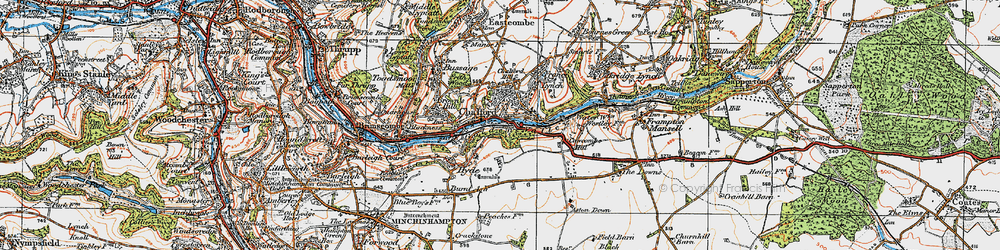 Old map of Chalford in 1919