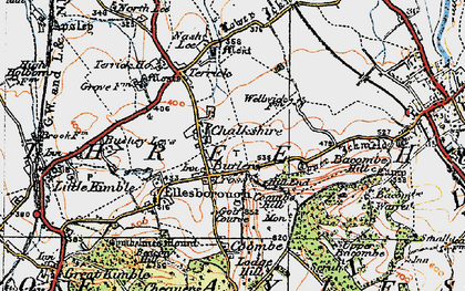 Old map of Chalkshire in 1919