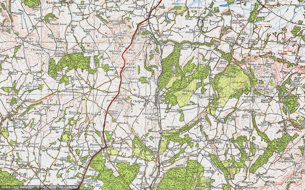Old Maps of Ditcham Park Sch - Francis Frith Sch Maps on