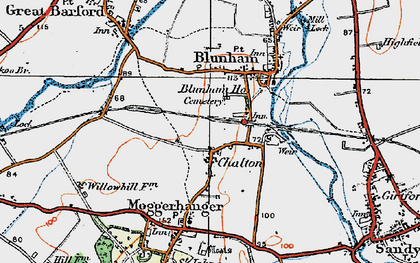 Old map of Chalton in 1919