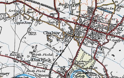 Old map of Chalvey in 1920