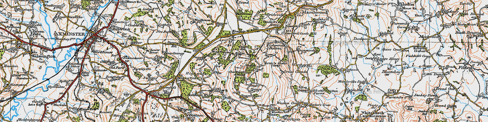 Old map of Wootton Hill in 1919
