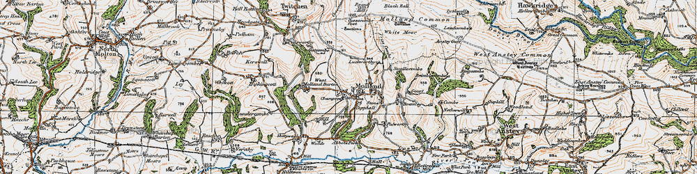Old map of White Post in 1919