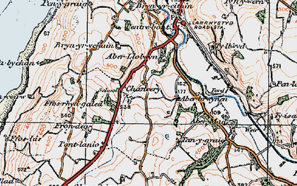 Old map of Abermad in 1922