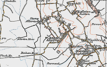 Old map of Allerton Moor in 1919