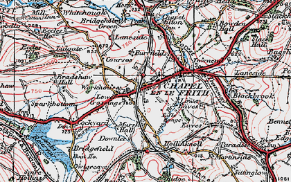 Old map of Chapel-en-le-Frith in 1923