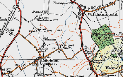 Old map of Chapel End in 1919