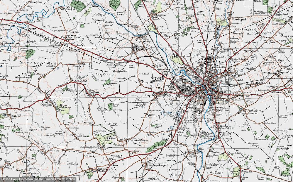 Old Map of Chapel Fields, 1924 in 1924