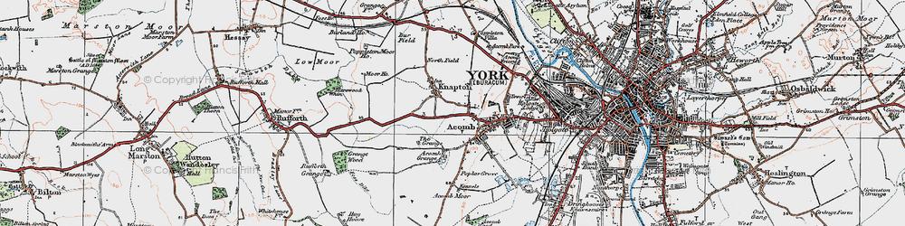 Old map of Chapel Fields in 1924