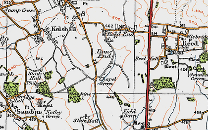 Old map of Chapel Green in 1920